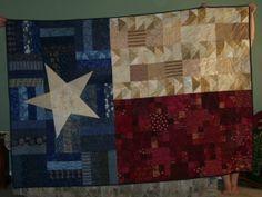 Pieces of Texas quilt Texas Quilt, Flag Quilt, Patriotic Quilts, Quilt Blocks, Fabric Crafts, Sewing Crafts, Sewing Projects, Sewing Ideas, Texas Flags