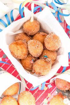 Rezept für Närrische Quarkbällchen in Zimt-Zucker / recipe for quark balls in cinnamon-sugar