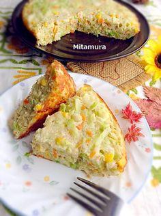 高麗菜烘蛋(無起司) ||  高麗菜(中) 4分之1顆 玉米粒 1小杯 洋葱(小) 半顆 紅蘿蔔(小) 3分之1根 馬鈴薯(中) 一顆 蛋 4顆 調味料 塩 1小匙 糖 1小匙 胡椒粉