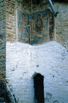 Fresco's - Panagia Spiliotissa monastery Greece 1987