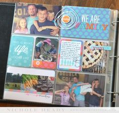We Are Family Layout by Nichole Heady for Papertrey Ink (August 2014)