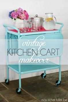 Vintage Kitchen Cart Makever May Richer Fuller Be