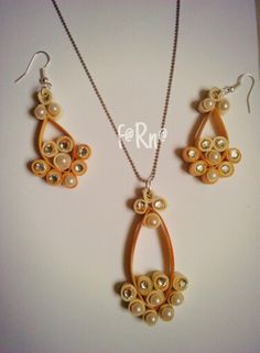 Quilled set pendant n earring