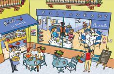 Describing a Restaurant. Visit: www.emilieslanguages.com or https://www.facebook.com/emilieslanguages #emilieslanguages #restaurant