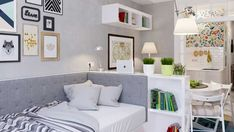 Tiny Studio Apartment Big Design Ideas For Small Studio Apartments. Tiny Studio Apartment 11 Ways To Divide A Studio Apartment Into Multiple Rooms. Micro Apartment, Apartment Living, Apartment Therapy, Studio Apartment Decorating, Apartment Design, Apartment Ideas, Small Condo Decorating, Decorating Ideas, Small Space Living