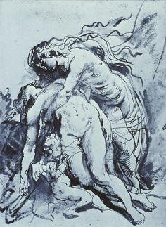Peter Paul Rubens, Venus Lamenting over Adonis, 1615, pen, ink, wash.