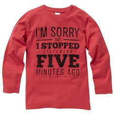 Boys' Red Printed Long Sleeve Top