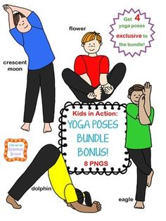Theyre back...and they're in a BUNDLE!  All three of the 'Kids in Action: Yoga…