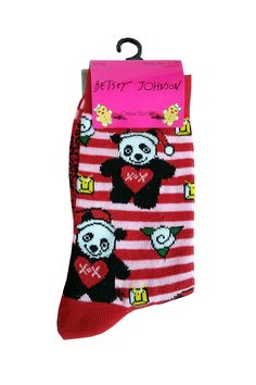 Betsey Johson Holiday Socks #stellasaksa #betseyjohnson #holiday #socks
