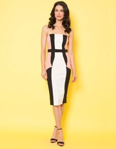 Paper Dolls Strapless Panel Dress