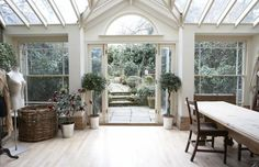 sewing studio | Sewing studio: natural lighting, door/way, garden, space... yes please ...
