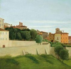Landscape (Perugia), Antonio Donghi. Italian (1897 - 1963)