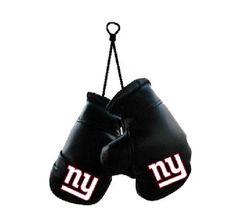 "New York Giants NFL 4"" Mini Boxing Gloves Car Accessory"