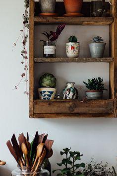 Handmade pallet shelf - Shelfie shelving shelves living dining kitchen bedroom room