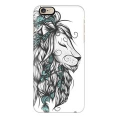 Poetic Lion Turquoise - iPhone 7 Case, iPhone 7 Plus Case, iPhone 7... ($40) ❤ liked on Polyvore featuring accessories, tech accessories, iphone case, slim iphone case, iphone cover case, apple iphone case and iphone cases