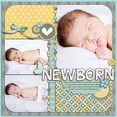 Newborn scrapbook page layout Baby Boy Scrapbook, Scrapbook Bebe, Bridal Shower Scrapbook, Album Scrapbook, Baby Scrapbook Pages, Scrapbook Sketches, Scrapbook Page Layouts, Scrapbook Paper Crafts, Scrapbook Templates
