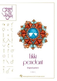 pendant tutorial / pattern Eikki pendant with super kheops beads – PDF instruction for personal use only by beadsbyvezsuzsi on Etsy