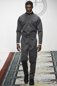 shirt jacket, baseball collar, cargo, jumpsuit | Astrid Andersen Fall 2016 Menswear Fashion Show