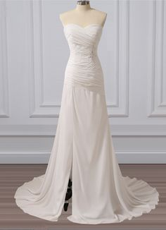 Long Wedding Dress, Sweet Heart Wedding Dress, Chiffon Bridal Dress, Sequin And Applique Wedding Dress, Side Split Wedding Dress Weeding Dress, Wedding Dress Chiffon, Applique Wedding Dress, Long Wedding Dresses, Bridal Dresses, Bridesmaid Dresses, Orange Prom Dresses, Homecoming Dresses, Nice Dresses