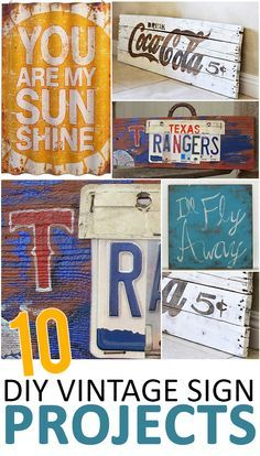 10 DIY Vintage Sign Projects