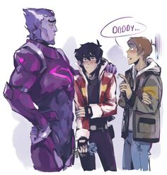 Galra!Keith, lance meeting keith's dad