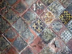 Medieval painted tiles. Looks like possibly from a church?