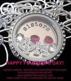 Phi Mu! Sorority Lockets! We offer FUNDRAISERS for Sorority Lockets! SISTERS get your lockets and earn money for your sorority or special charity!LOVE it! WANT it!!! WANT IT FOR FREE?? Ask me how! Need Extra Money? Love Origami Owl ? JOIN MY TEAM! Designer#14669 Like me on FACEBOOK www.facebook.com/... SHOP ONLINE @ touchedbyacharm.o...