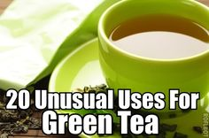 Green tea can be used to: reduce wrinkles eliminate dark circles relieve irritation and redness boost dental health treat sunburn eliminate fridge odor clean carpets fertilize plants freshen clothes treat acne and much more. Be Natural, Natural Living, Natural Healing, Natural Skin, Natural Home Remedies, Herbal Remedies, Health Remedies, Holistic Remedies, Health And Beauty Tips