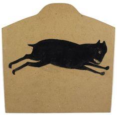 Bill Traylor - Black Dog Running, ca. early 1940s