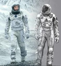 Concept Art Of Spacesuits Used In Christopher Nolan's INTERSTELLAR