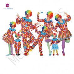 Disfraz #Payasa Multicolor para Niña #disfraces para #grupos #comparsas en #mercadisfraces.es tu #tienda de #disfraces #online