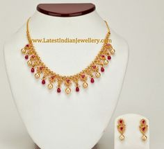 Uncut Diamond Ruby Necklace