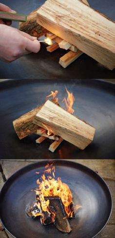 How to light a wood BBQ