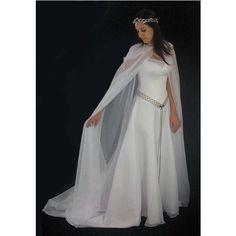 Rivendale Dress and organza cape