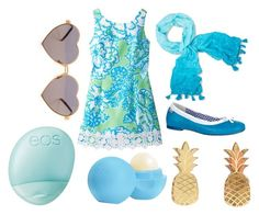 """""""Blue Waves"""" by lucynew44 ❤ liked on Polyvore featuring moda, Lilly Pulitzer, Eos, Wildfox, Vinca, women's clothing, women, female, woman e misses"""