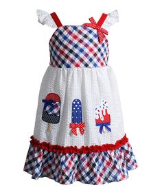 Look at this #zulilyfind! Youngland Red & White Popsicle Angel-Sleeve Dress - Infant, Toddler & Girls by Youngland #zulilyfinds