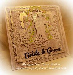 CottageCutz Wedding Card/Bride&Groom/Sweeet Designs By Cheryl