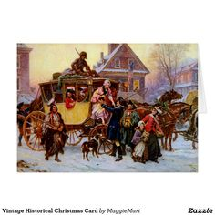 Vintage Historical Christmas Card
