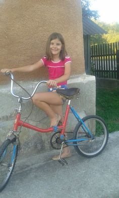 My new bike . A colour blue and red