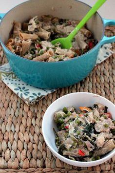 Healthy tuna noodle casserole recipe - get your 90's on!  #spon @mccormickspice