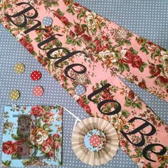 Vintage floral hen party sashes