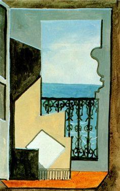 Pablo Picasso (1881-1973) Balcon avec vue sur mer. 1919