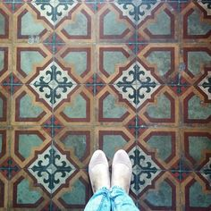 Maltese Tiles found in a local restaurant in Balzan, Malta