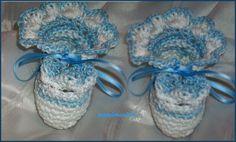 SCARPINE  per neonato all uncinetto, by CREAZIONI A MANO UNCINETTO , 8,00 € su misshobby.com