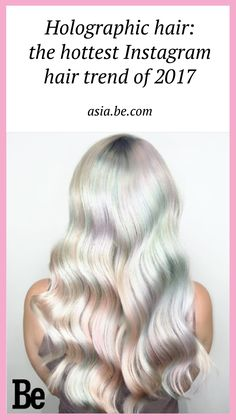Go big or go home with holographic hair, the latest holo trend taking Instagram and Pinterest by storm. #hairstyle #hairtrend #purple #rainbow