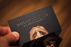 New DogStudio Business Cards Arrived - Dog Studio Photography Blog Business card idea