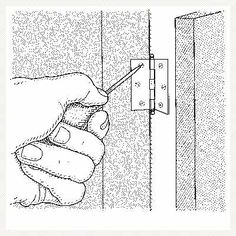 How to remove painted hinges from wood cabinets. | Illustration Harry Bate | We show you how @ thisoldhouse.com