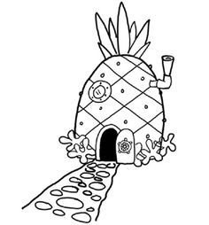 spongebob coloring pages house easynip - Sponge Bob Coloring