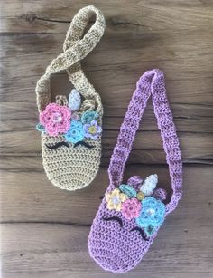 Crochet Unicorn Bag