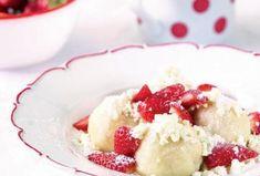 Tvarohové knedlíky s jahodami - Recepty.cz - On-line kuchařka Sweet Cooking, I Love Food, No Cook Meals, Ham, Food To Make, Cheesecake, Strawberry, Food And Drink, Pudding